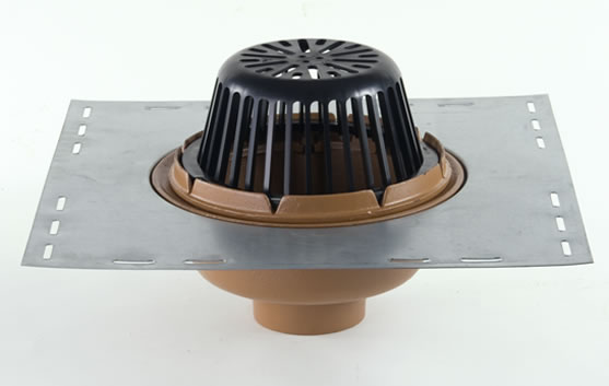 12 Quot Diameter Body Roof Drain With Low Profile Dome Jay R