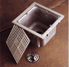 Sani ceptor stainless steel floor drain square stainless steel and technical data for sanitary floor drains tyukafo