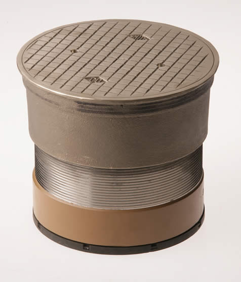 Finished Floor Cleanouts With Round Nickel Bronze Tops And