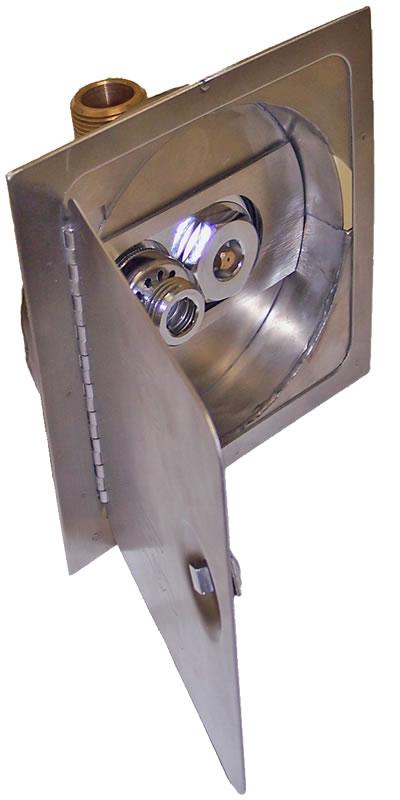 5518 R Cored Hole Narrow Wall Mild Climate Hydrant Amp Box
