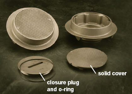 Round Solid Scoriated Cover And Closure Plug For Floor