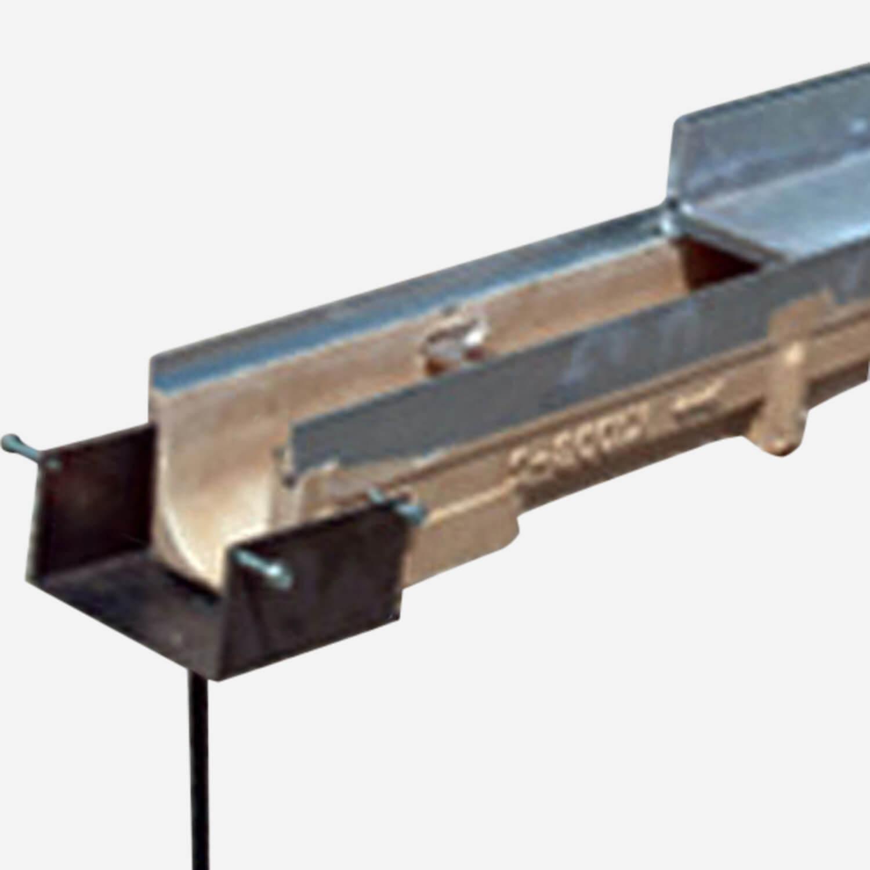 "1/2"" 'Brick Slot' Polymer Concrete Trench Drain System"