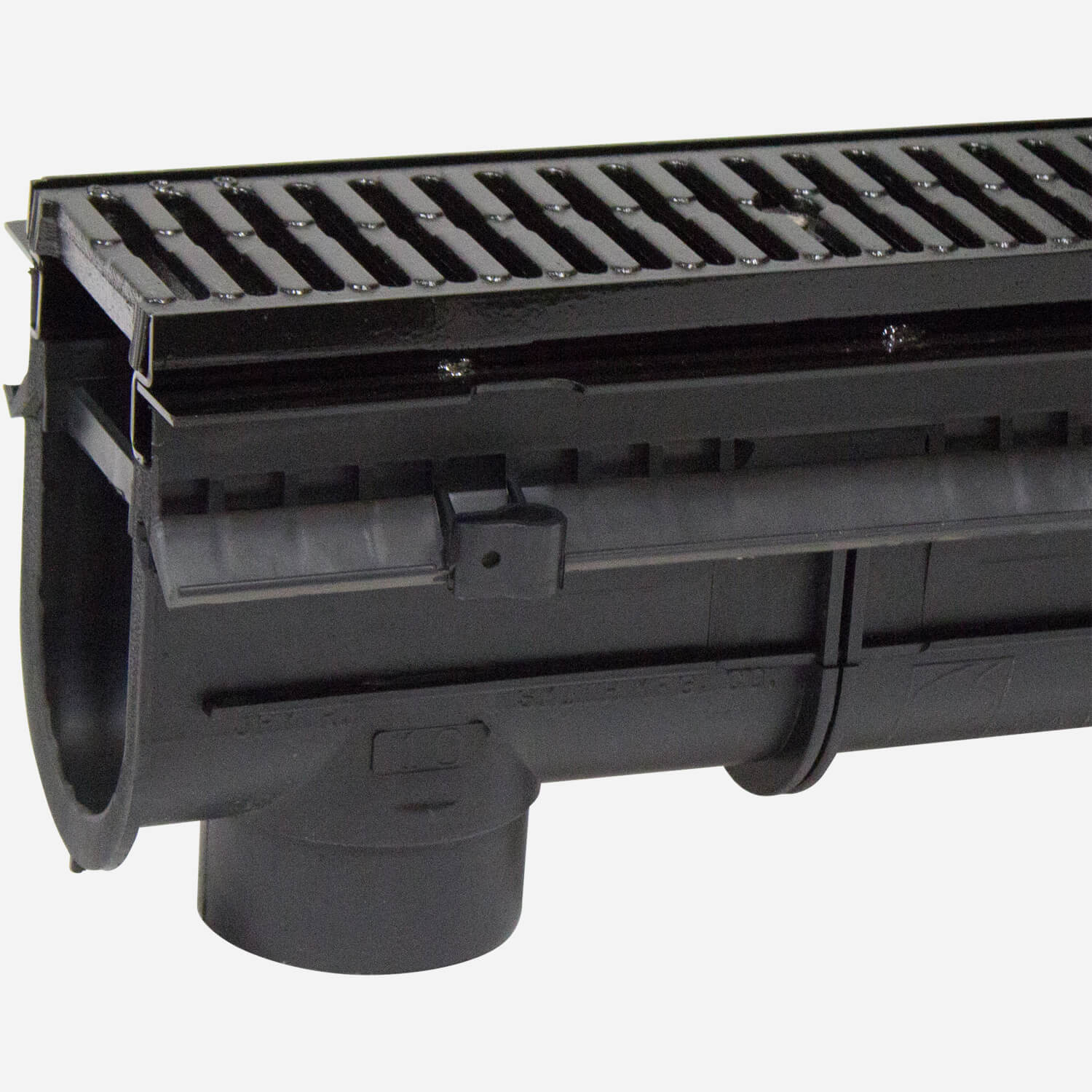 "6"" Wide Polypropylene Trench Drain System with Steel Frame System for Extra Heavy Applications -  Enviro-Flo II ®"