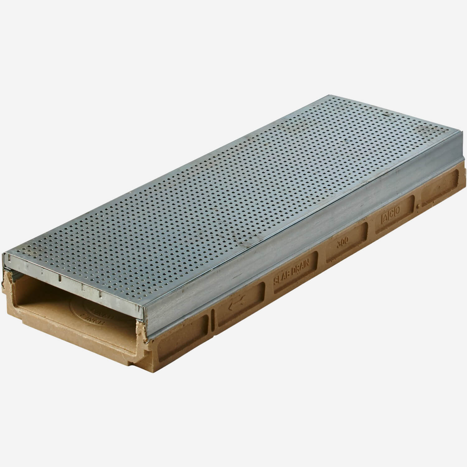 """14"""" Wide Slabdrain® Drain System with Integral Metal Rail"""