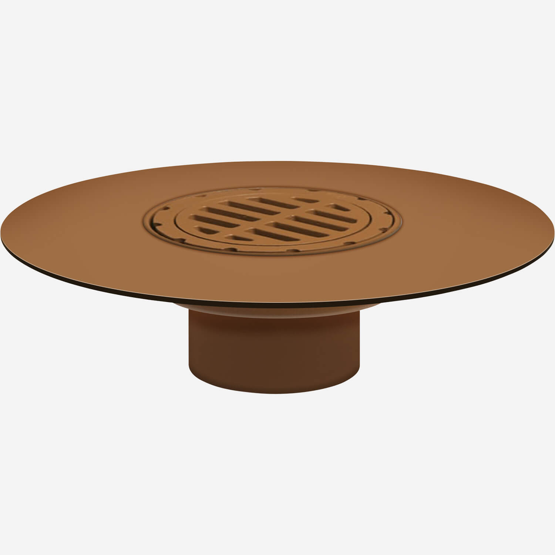 "Medium Wide Flange Body Roof Drain with ""Safe-Set"" Bucket"