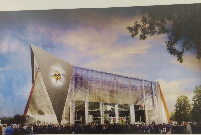 Rendering of New Vikings Stadium