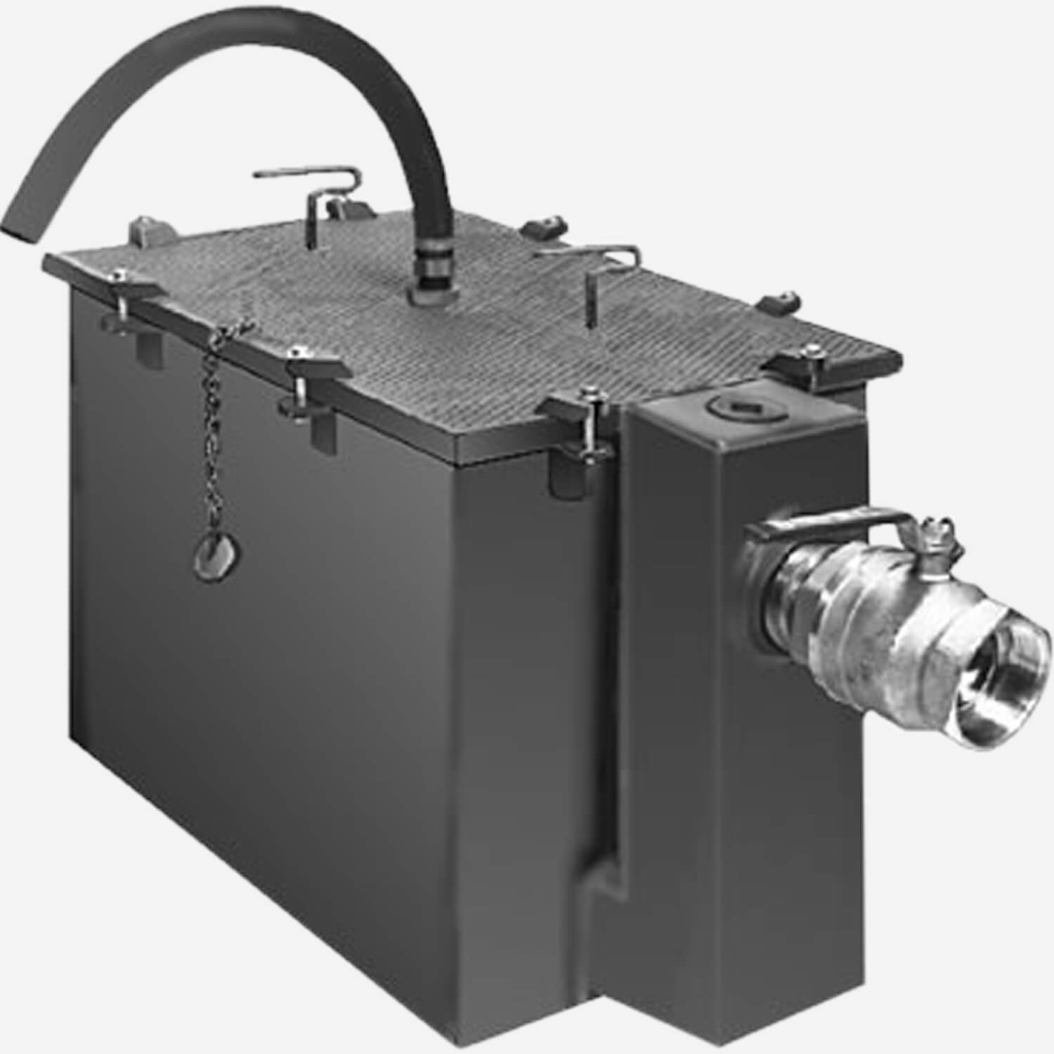 Grease Interceptors with Semi-Automatic Draw-Off for Recessed Installation