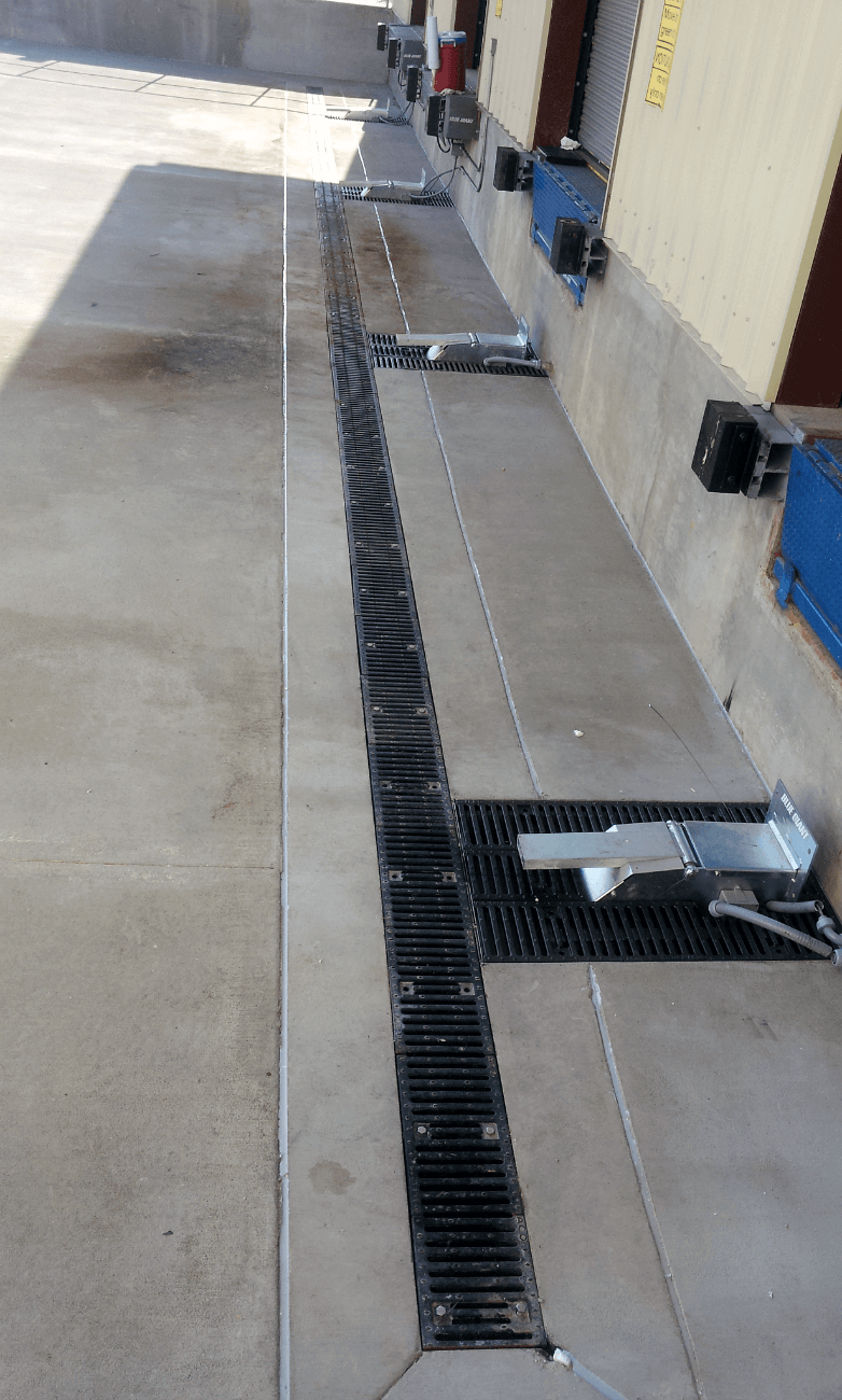 Trench Sink : Trench Drain Installed in Loading Dock Installing a Trench Drain at a ...