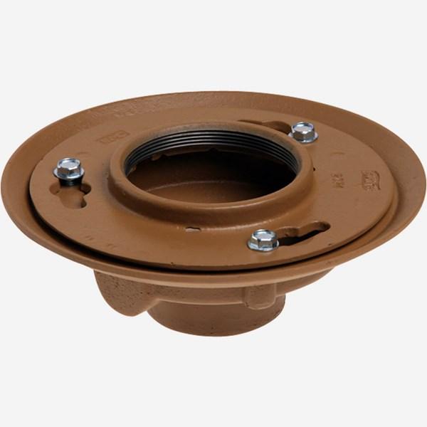 Floor Drain Elevation : Floor drains with adjustable strainer heads jay r