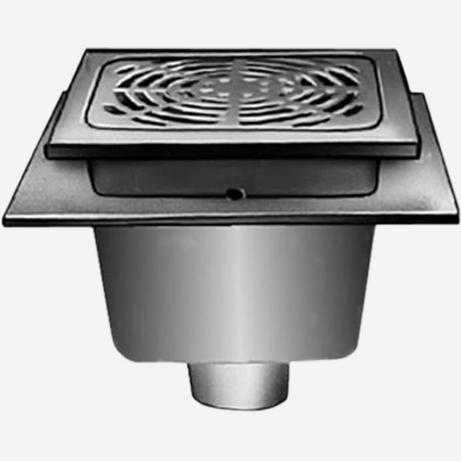 Sani-Ceptor® Sanitary Acid Resistant Coated Sanitary Floor and Indirect Waste Drains with Medium, Deep and  Extra Deep Receptor and  ARC Square Non-Traffic Top