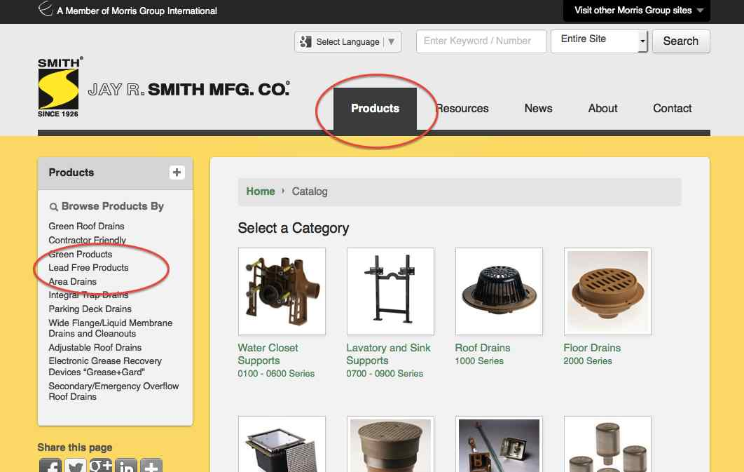 Lead Free Product Search