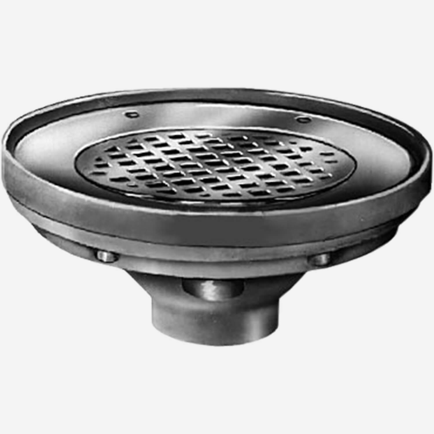 Sani-Ceptor® Sanitary Acid Resistant Coated Sanitary Refrigerator Drain with Recessed Grate