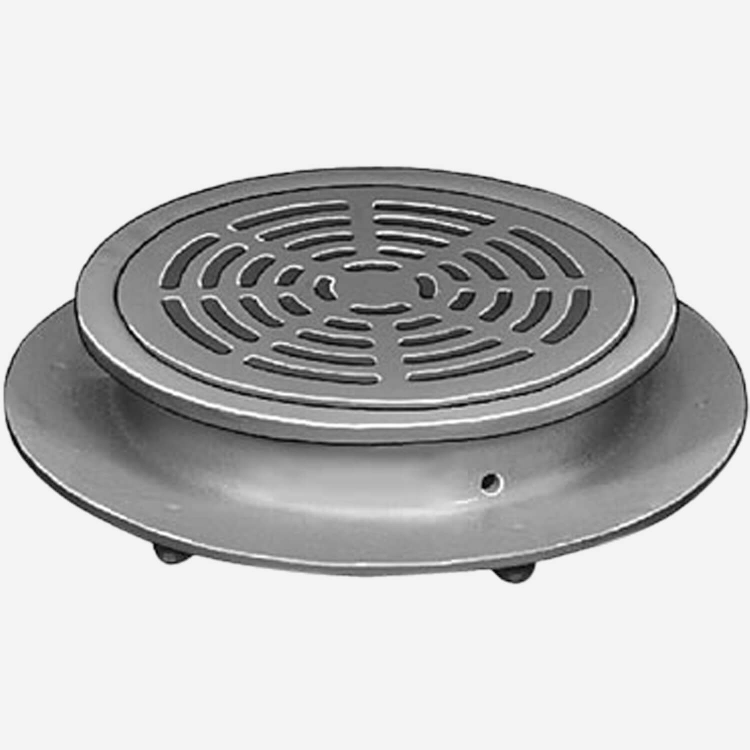 Sani-Ceptor® Sanitary Acid Resistant Coated Sanitary Floor and Indirect Waste Drains with Shallow Receptor and ARC Round Non-Traffic Top