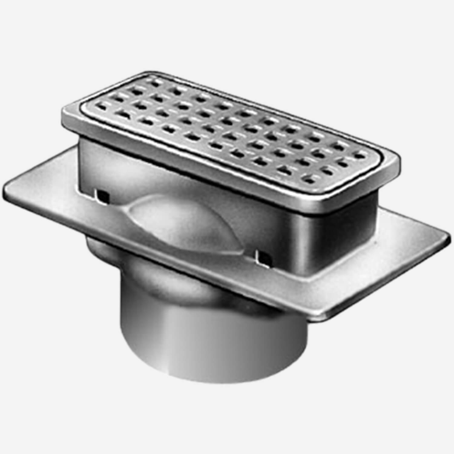 Sani-Ceptor® Sanitary Acid Resistant Coated Sanitary Floor and Indirect Waste Drains with Shallow and Deep Receptor and ARC Rectangular Non-Traffic Top