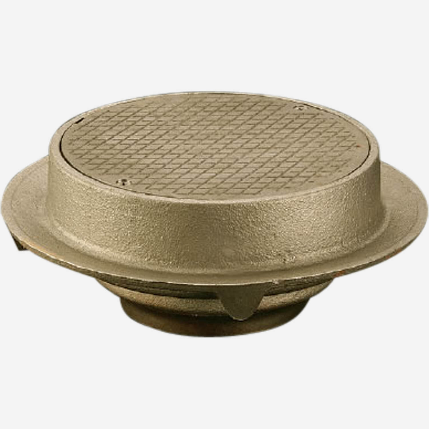 Round Solid Scoriated Cover and Closure Plug for Floor Drains