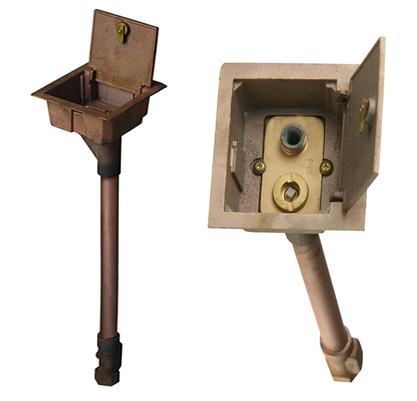 5810 Hinge Covered Box Non Freeze Boxed Ground Hydrants