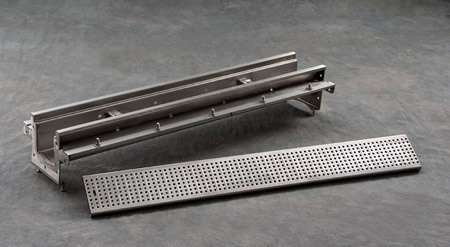 9665 6 Quot Wide Modular Shallow Stainless Trench Drain