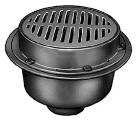 Extra Heavy Duty Large Capacity Floor Drains with Sediment Bucket and  Round Tractor Grate Tops