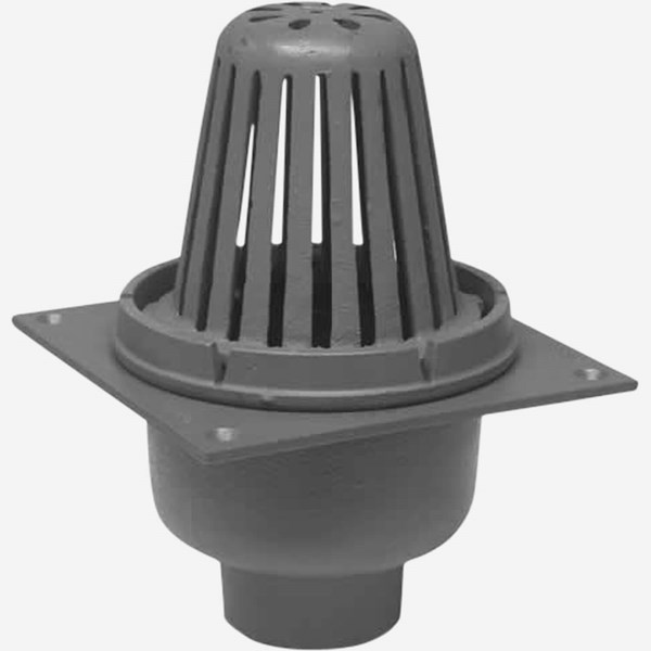 Small area roof drain light commercial plumbing