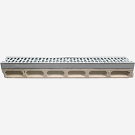 "6"" Wide 'Pre-Sloped' Polymer Concrete Trench Drain System with Integral Metal Rail - Klassikdrain®"