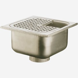 "14 Gage Stainless Steel Floor, Area & Indirect Waste Drains with 12""(304) Square Top"