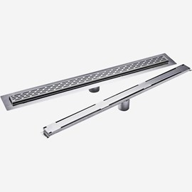 "2"" Wide Stainless Steel Shower Drain - Fine-Line®"