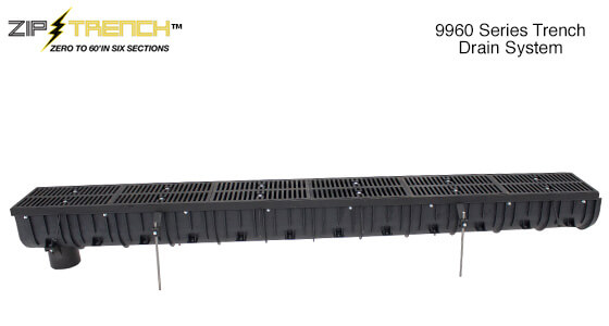 9960 Zip Trench Pre-Sloped Trench Drain System
