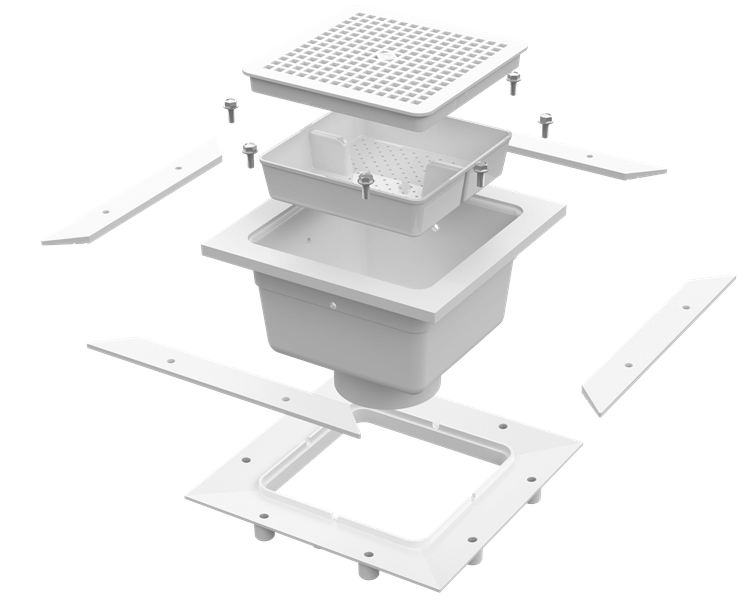 Ideal for use in kitchens, hospitals, food markets, restaurants and all types of food handling areas, the PVCeptor Sanitary Floor Sink is ideal for all ...