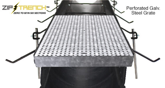 Zip Trench with Perforated Galvanized Steel Trench Drain Grate