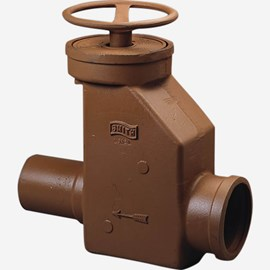 Inline Manual Shut Off Gate Valve Series Drain