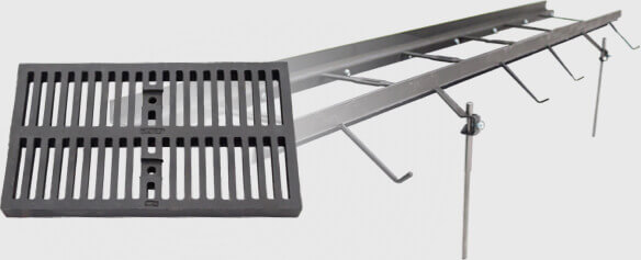 Zip Trench Polypropylene Trench Drains 6 Quot 12 Quot Light