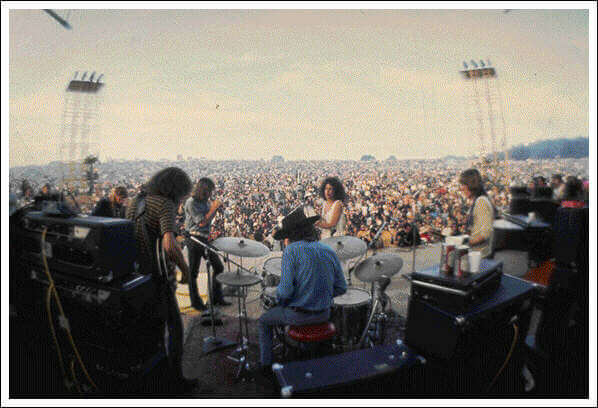 Jefferson Airplane on stage at Woodstock