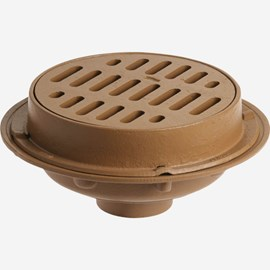 "Medium Duty Floor Drains with 12"" Round Tops"