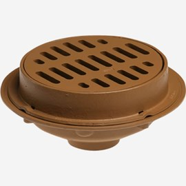 "Heavy Duty Floor Drains with 12"" Top Solid Free Standing Sediment Bucket"