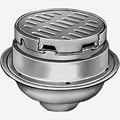 "Heavy Duty Floor Drains with 12"" Adjustable Round Tops and Tractor Grate"
