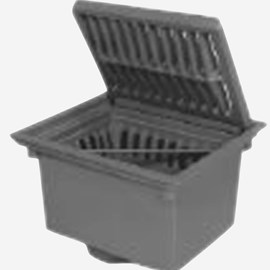 Heavy Duty Drains with Outlet, Hinged Grate and Free Standing Sediment Bucket