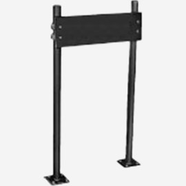 Pro-Set Uprights with Plate and Studs for High Back Lavatories with Concealed Wall Hanger and Extended Bottom Securing Legs - Floor Mounted