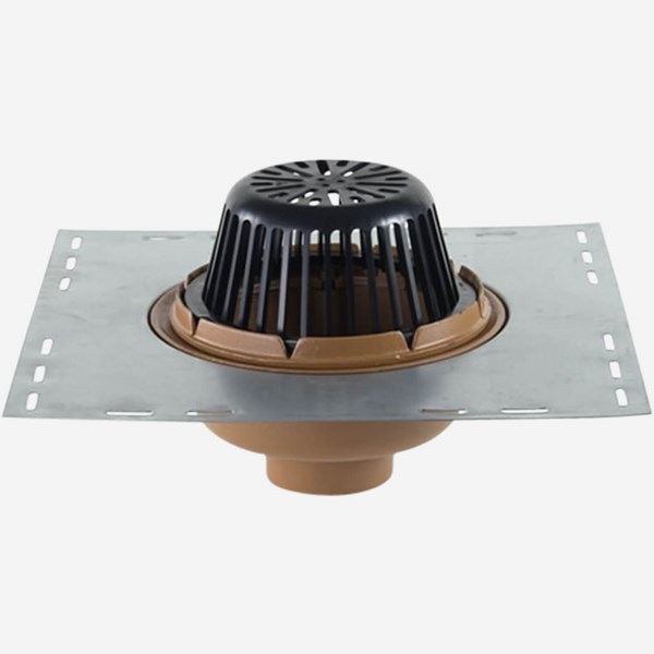 Quot diameter body roof drain w low profile