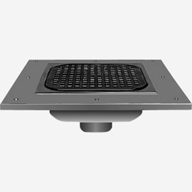 Sani-Ceptor® Stainless Steel and Nickel Bronze Top Floor Drain with Wide Flange