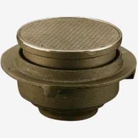 Adjustable Top, Scoriated Cover and Closure Plug for Floor Drains