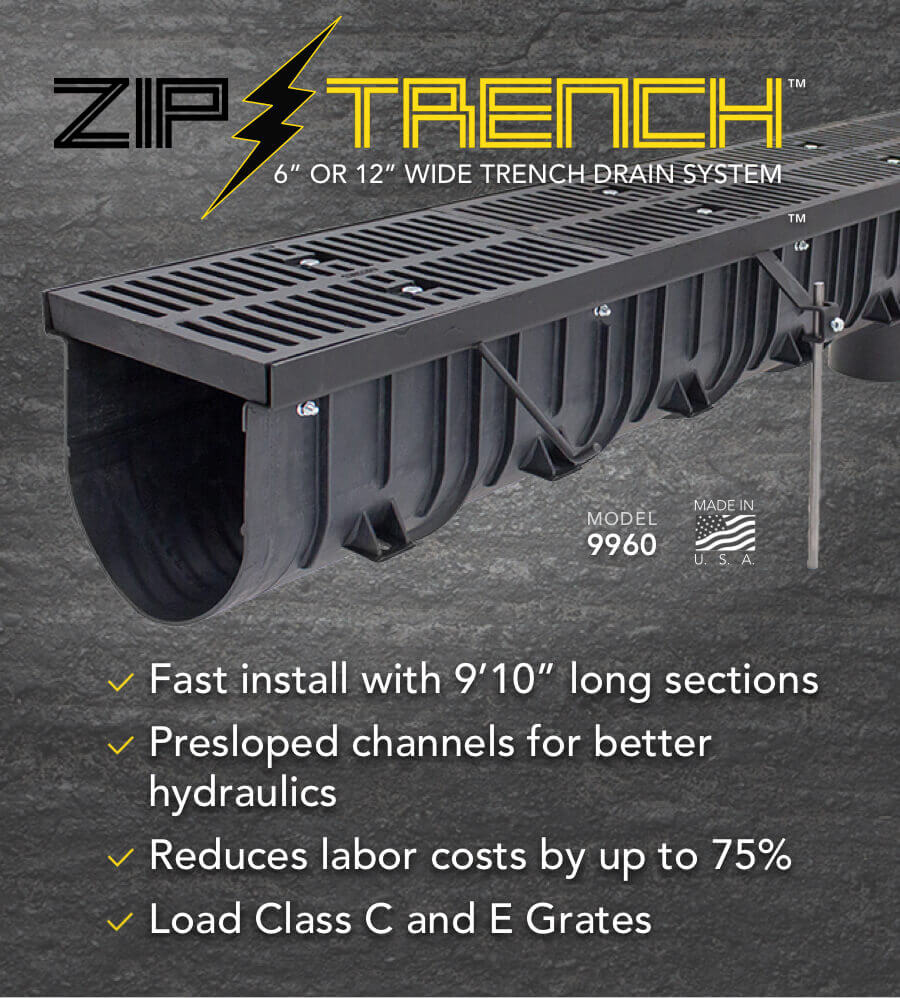 Zip Trench Polypropylene Trench Drains 6 12 Light Heavy